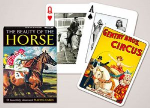 The Beauty Of The Horse set of playing cards + jokers    (gib)